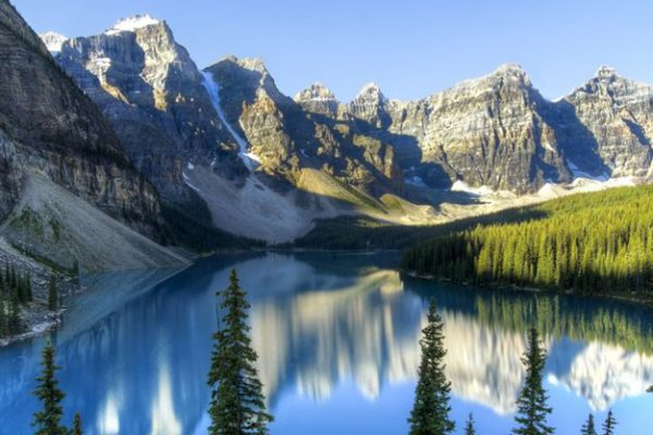 nature image containing lake and mountain scene