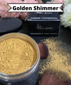 makeup golden shimmer
